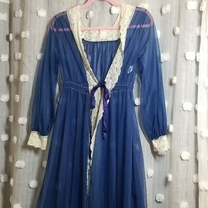 Vintage 60's Peniour Sheer Robe size M